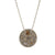 SIENA VINTAGE SILVER HAMMERED ROUND NECKLACE