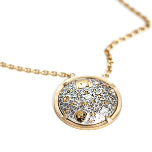 SIENA VINTAGE SILVER HAMMERED DOME NECKLACE