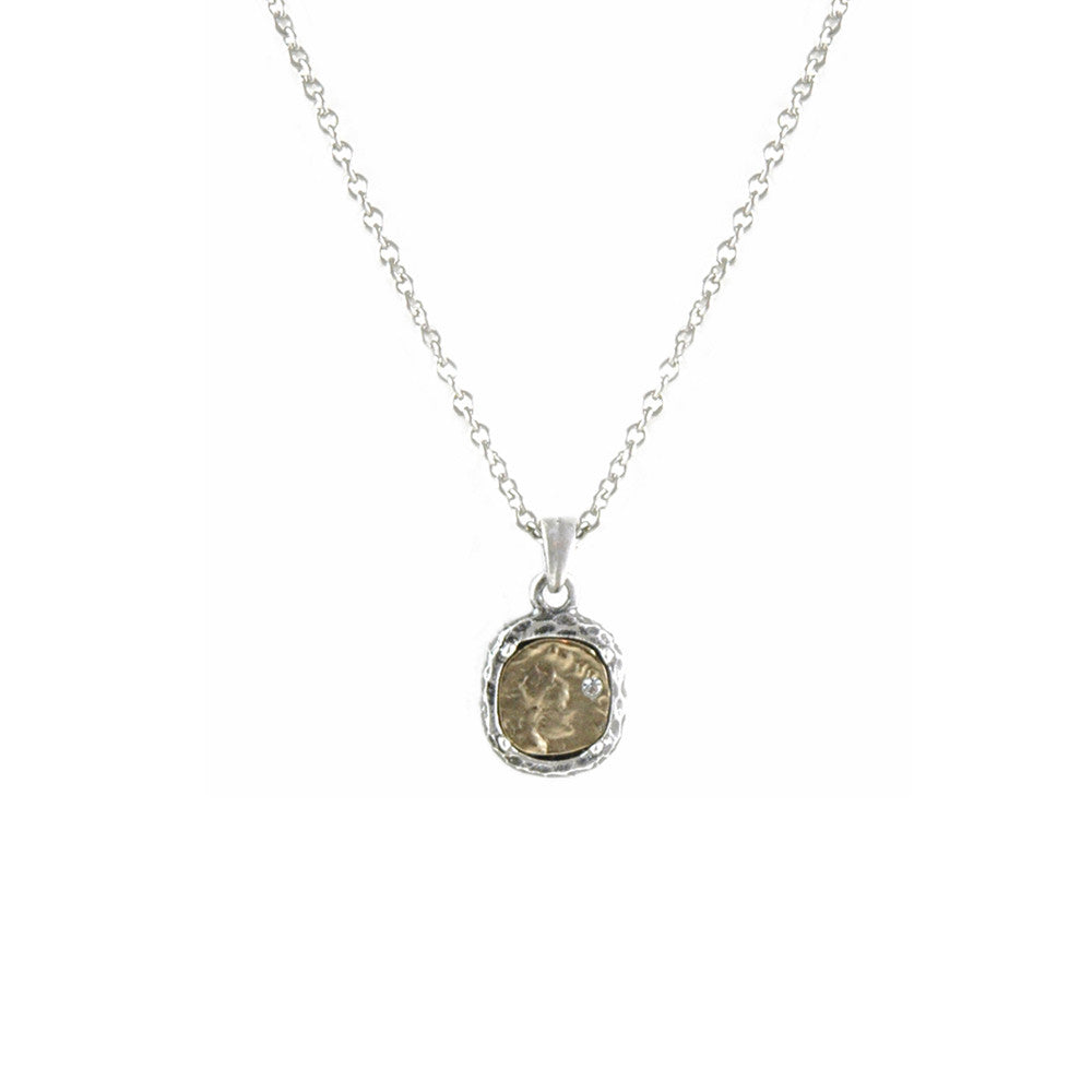 Vintage silver pavia coin frame necklace tat2 designs vintage silver pavia coin frame necklace aloadofball Gallery