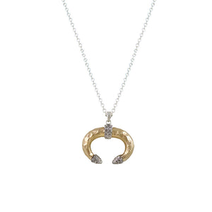 GOLD ASFI U-SHAPE HORN NECKLACE