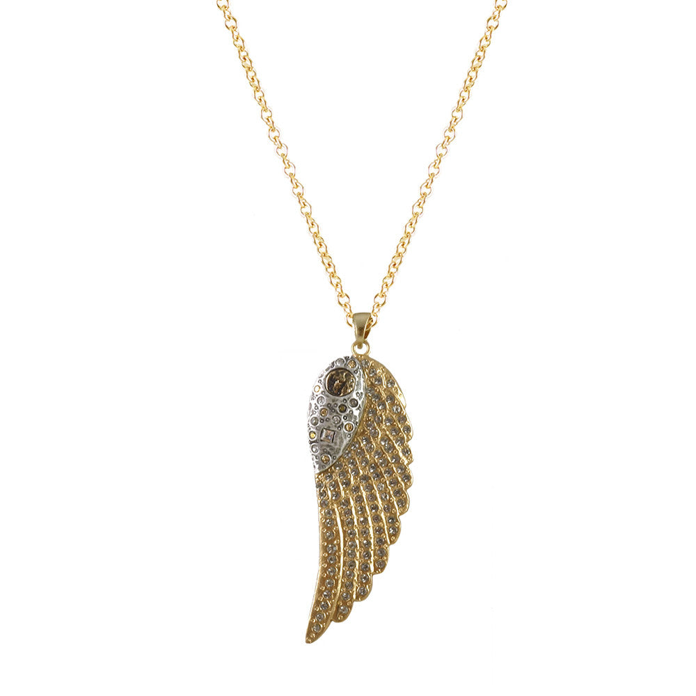GOLD RAVENNA WING NECKLACE