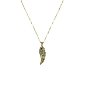 GOLD RAVENNA MINI WING NECKLACE
