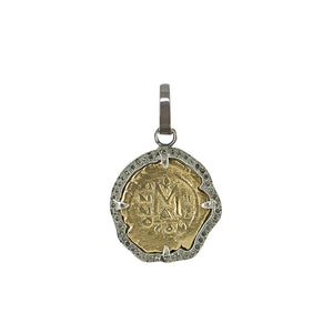 VINTAGE SILVER MOLAT COIN CHARM