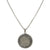 VINTAGE SILVER GERONA MENS COIN SUNBURST NECKLACE