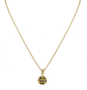 GOLD BATLLO PENDANT NECKLACE