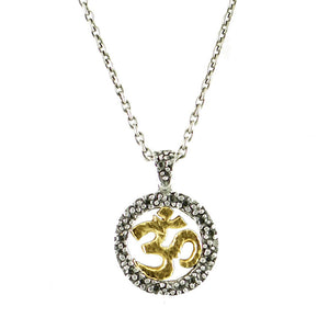VINTAGE SILVER OM NECKLACE