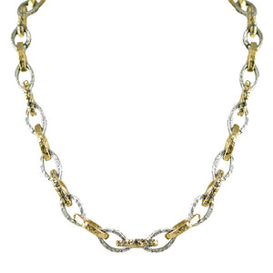 GOLD & VINTAGE SILVER RINKU LINK NECKLACE