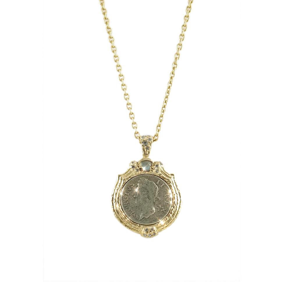 GOLD & VS LABRADORITE GEORGE II LARGE NECKLACE