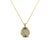 GOLD & VS BLACK DIAMOND GEORGE II SMALL NECKLACE