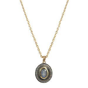 VINTAGE GOLD LABRADORITE TALEN NECKLACE