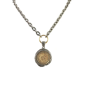VINTAGE SILVER PATNA WAX SEAL NECKLACE