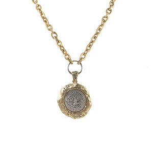 GOLD KOCHI WAX SEAL NECKLACE