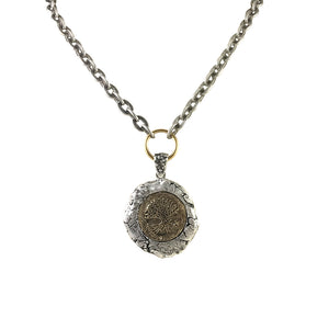 VINTAGE SILVER KOCHI WAX SEAL NECKLACE
