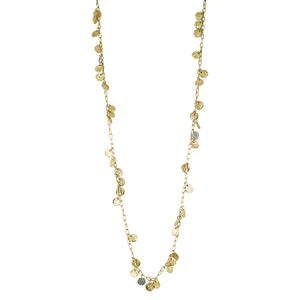 GOLD APOLLONIA LONG MULTI COIN NECKLACE