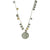 VINTAGE SILVER APOLLONIA & ST. BLAISE MULTI COIN NECKLACE