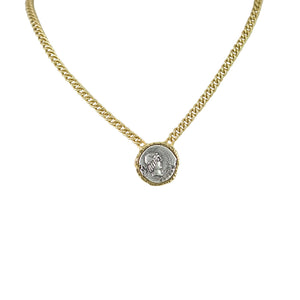 GOLD CALPURNIA CURB CHAIN NECKLACE