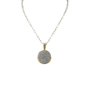 GOLD SAINT BLAISE PENDANT & CHAIN NECKLACE