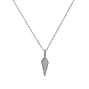 GUNMETAL VELEN CRYSTAL KITE PENDANT NECKLACE