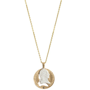 GOLD FRANCIS II PUZZLE PIECE NECKLACE