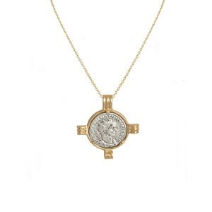 GOLD MAXIMIANUS COIN & FRAME NECKLACE