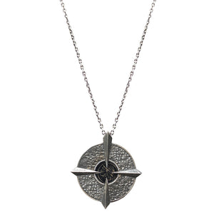 VINTAGE SILVER COMPASS VG CORNELIA NECKLACE