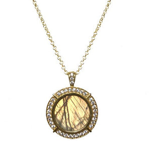 GOLD FRAME LABRADORITE NECKLACE