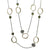 VINTAGE SILVER & LABRADORITE LOOP & COIN STATION NECKLACE