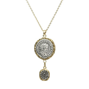 GOLD MAXIMIANUS PAVE NECKLACE WITH BAIL