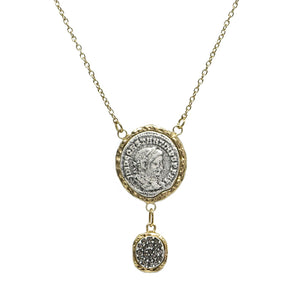 GOLD MAXIMIANUS PAVE NECKLACE