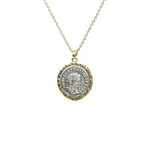 GOLD MAXIMIANUS COIN NECKLACE