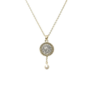GOLD HESTIA PEARL NECKLACE