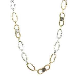COIN & PAVE LINK NECKLACE