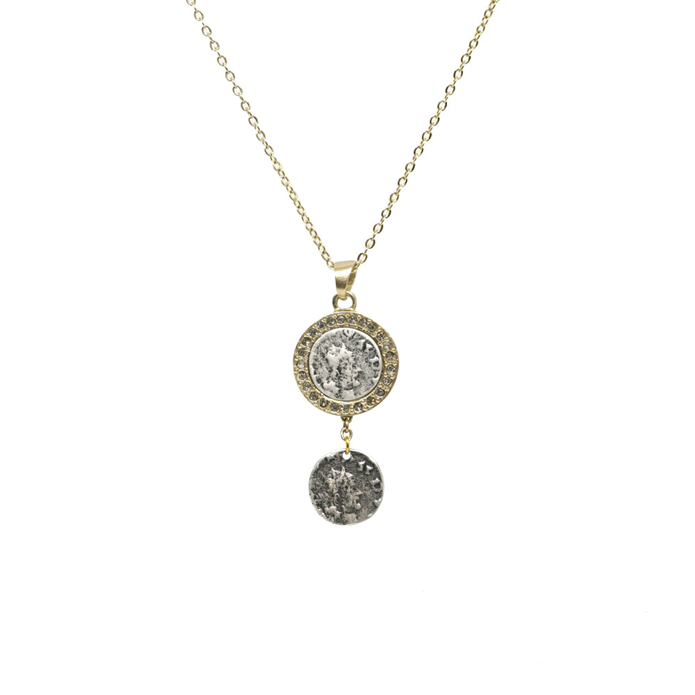 GOLD HESTIA VS COIN NECKLACE