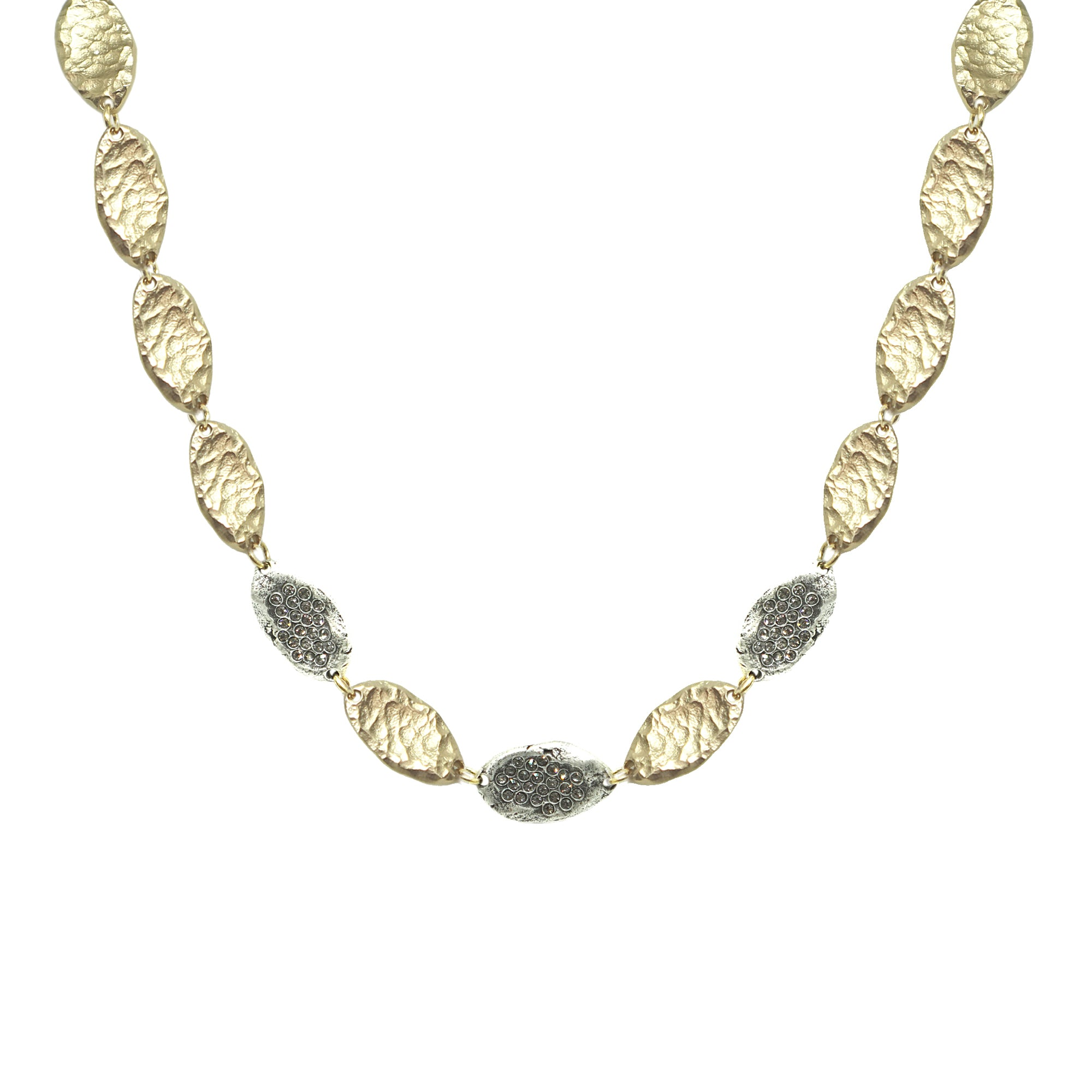 GOLD IMPRESSION LINK NECKLACE
