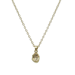 GOLD ROUND IMPRESSION NECKLACE