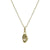 GOLD IMPRESSION TEAR DROP NECKLACE