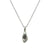 VINTAGE SILVER IMPRESSION TEAR DROP NECKLACE