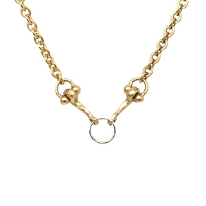 MINI GOLD HORSE BIT & RING NECKLACE