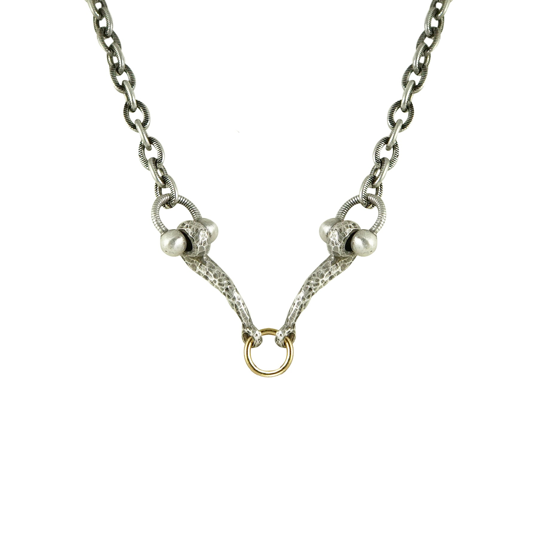 MINI VINTAGE SILVER HORSEBIT & RING NECKLACE