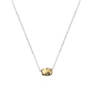 GOLD NUGGET IMPRESSION NECKLACE