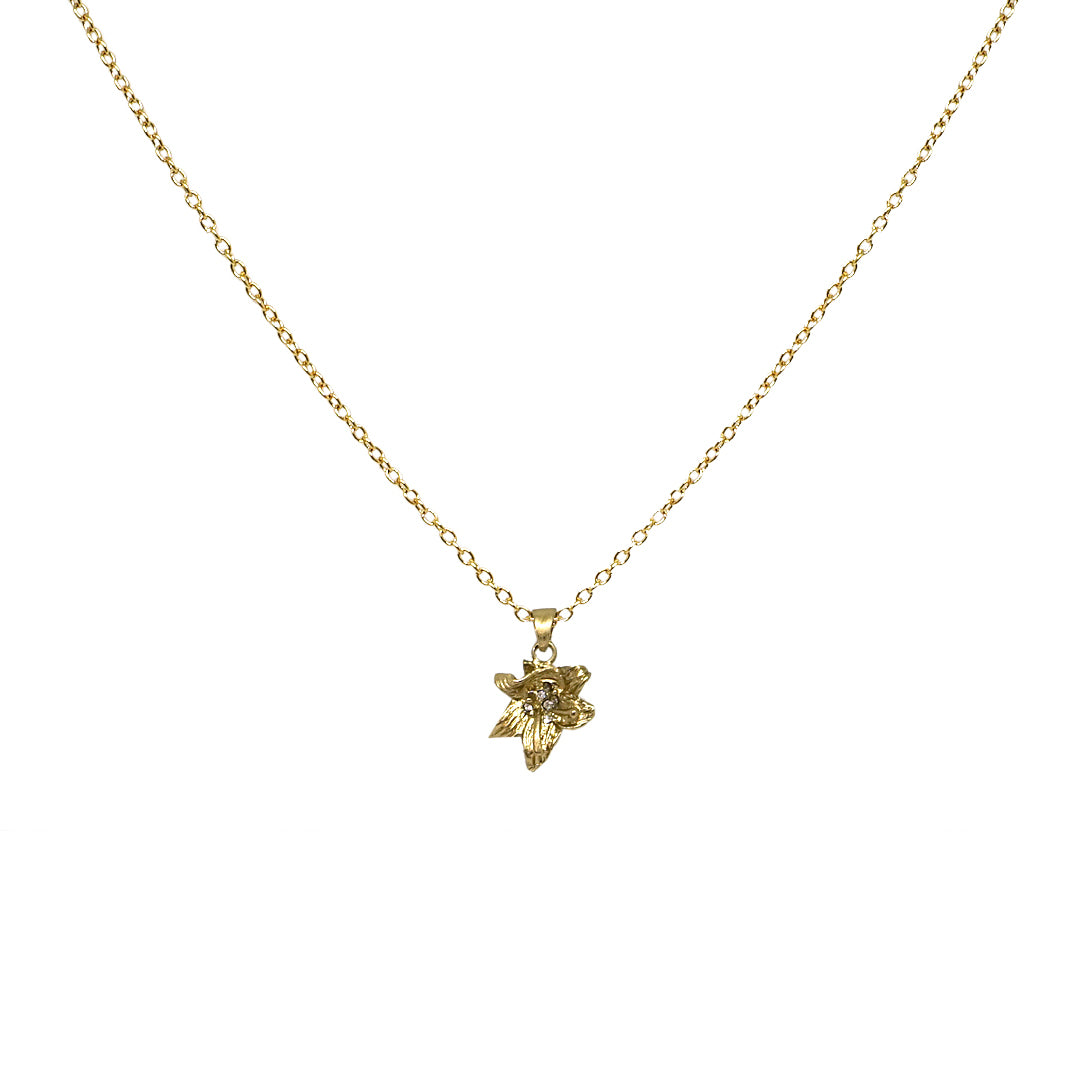 GOLD LILY NECKLACE