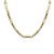 GOLD FLAT LINK AND RING CHAIN NECKLACE