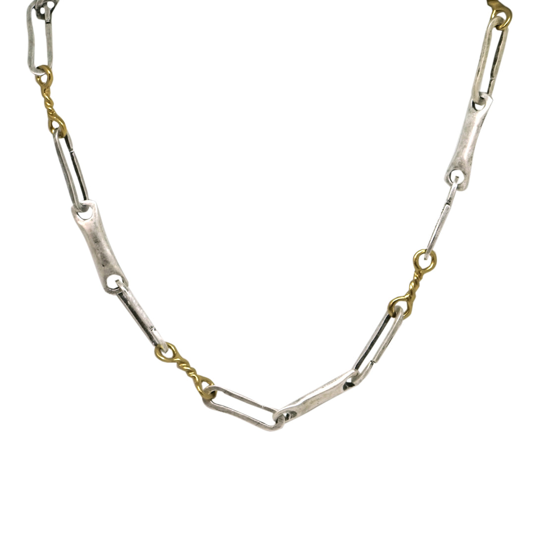 VINTAGE SILVER MULTI CHAIN LINK NECKLACE
