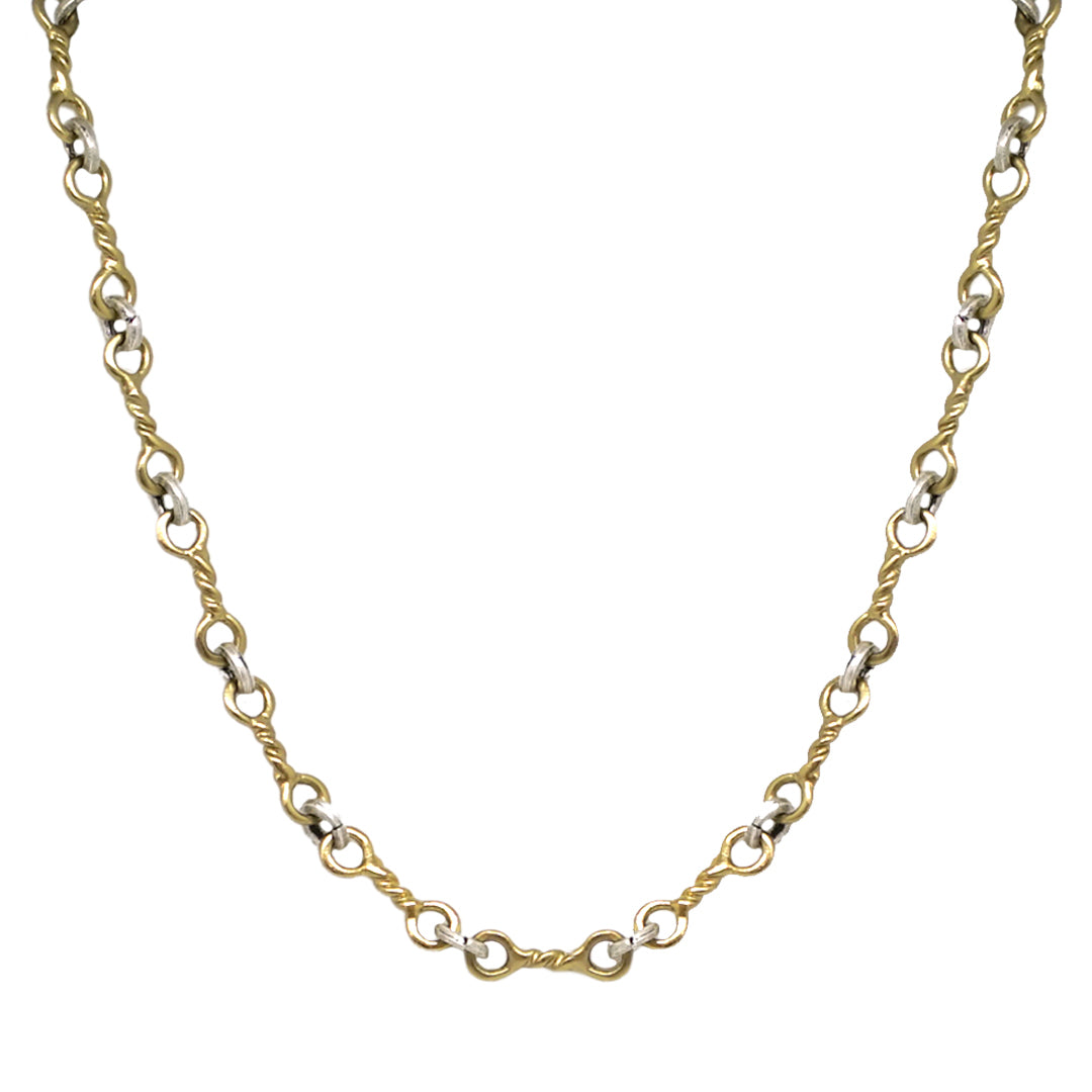 GOLD TWISTED RING NECKLACE