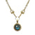 GOLD LABRADORITE CRYSTAL BEZEL HORSEBIT NECKLACE