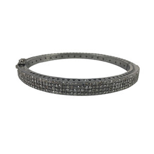 BLACK RHODIUM MALDA DIAMOND THIN BANGLE