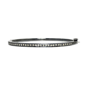 BLACK RHODIUM MALDA DIAMOND ULTRA THIN BANGLE