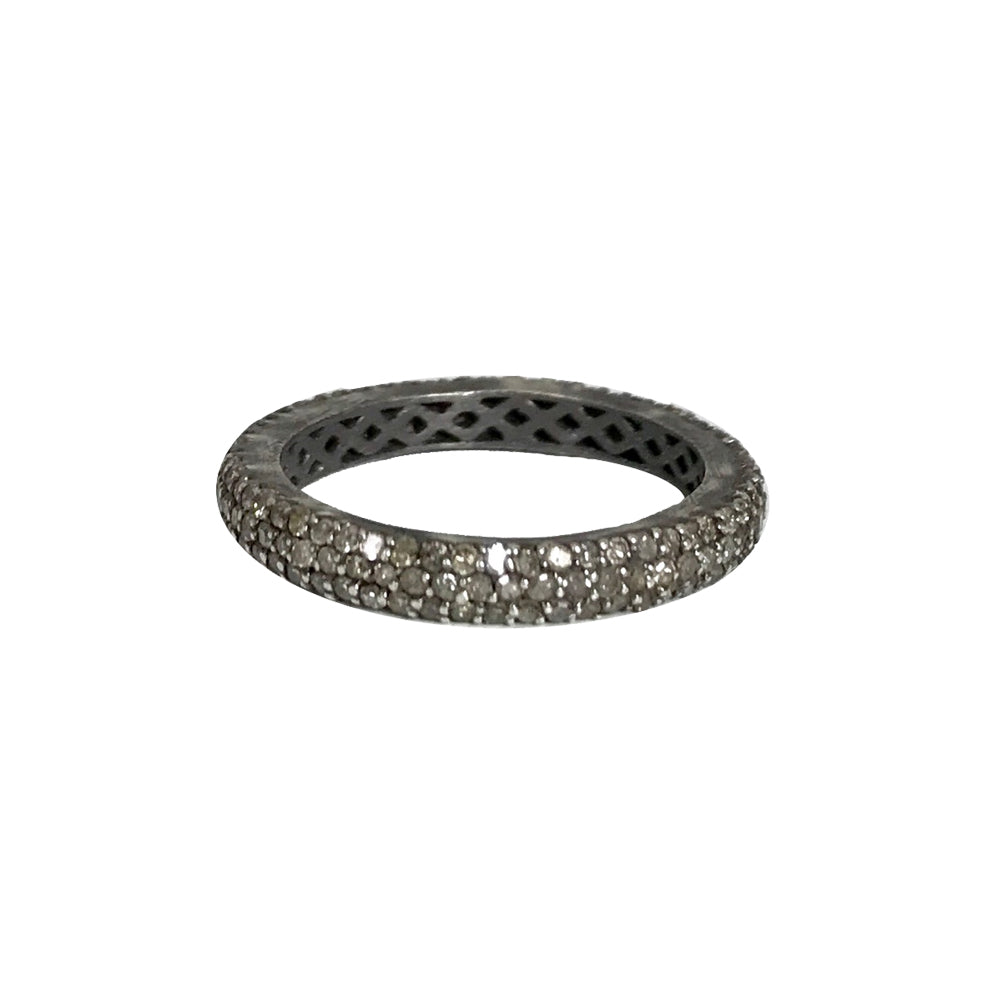 BLACK RHODIUM MALDA DIAMOND BAND RING