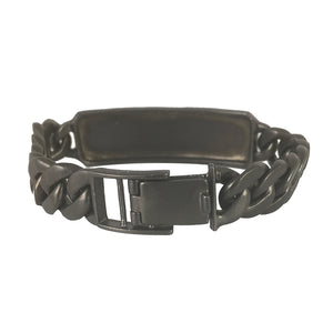 BLACK RHODIUM ARNI I.D. BRACELET - CUSTOMIZABLE