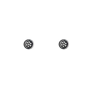 BLACK RHODIUM AMLI DIAMOND MINI STUD EARRINGS